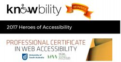 Knowbility WINNER 2017 Heroes of Accessibility award - PCWA course