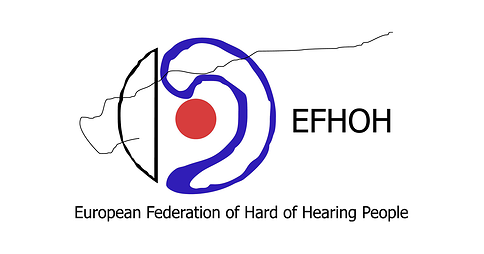 European Federation of Hard of Hearing People (EFHOH) logo